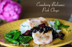 Using only 5 ingredients, Cranberry Balsamic Pork Chops are quick to cook with a stunning, flavorful pan sauce that will elevate any dinner! Recipe shared with permission granted by Peg Cochran, author of BERRY THE HATCHET.