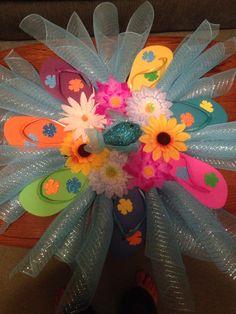 Flip Flop Wreath Flip Flop Wreaths, Craft Sale, Create