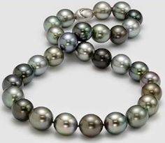 According to Tahitian folklore, the god Oro used his rainbows to visit earth and give mother of pearl its iridescence & Tahitian pearls their myriad metallic hues - including gray, black, green, peacock, blue and aubergine.