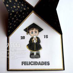 """Hilda Designs: Reto #16 en ZAC: Graduación, Digi Marcos de Zuri, los sentimientos son de Latina Crafter de los set """"Graduado"""" y """" Por tus logros"""""""