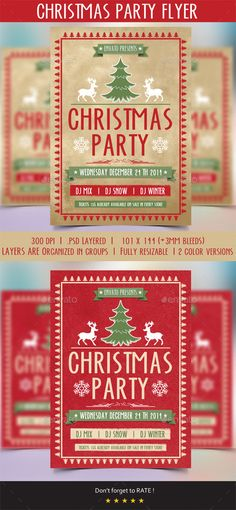 Golden Christmas Party Flyer  Party Flyer Flyer Template And Xmas