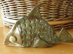 Whimsical Stoneware Fish by WildAcornsArtStudio on Etsy, $20.00