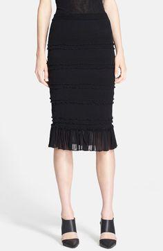 Jean Paul Gaultier Ruffled Tulle Skirt