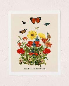 Trust the process. With every purchase, we donate of profits to Mental Health America. Painting Collage, Wall Collage, Wall Art, Wall Prints, Poster Prints, Art Print, Posters, Rise Art, The Heart Of Man