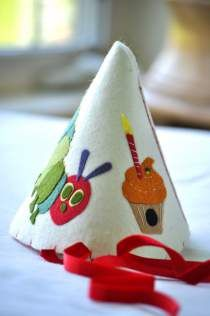 The very hungry caterpillar felt party hat.