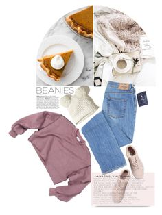 """Lazy"" by ladrianag ❤ liked on Polyvore featuring Hollister Co., Vans and beanies"