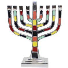 """Ben and Jonah 9.5"""" Lamp Lighters Ultimate Judaica Menorah"""