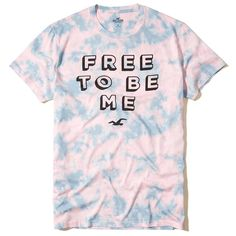 Hollister Pride Collection Graphic Tee ($20) ❤ liked on Polyvore featuring men's fashion, men's clothing, men's shirts, men's t-shirts, men tops/outerwear, tops/outerwear, pink, mens t shirts, mens pink shirts and mens crew neck t shirts