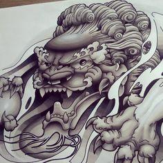 Chinese Foo Dog B+G Design