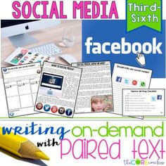 How to create writing on-demand assignments using paired texts on social media.