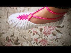 2 şişle ayarlı patik yapımı kolay olay model - YouTube Baby Slippers, Crochet Slippers, Knit Crochet, Knitting Socks, Diy And Crafts, Youtube, Olay, Shoes, Tejidos