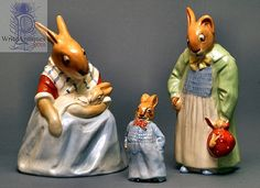 Early and rare, Royal Doulton Bunnykins figures.