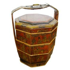 Antique Chinese wedding basket - $995.