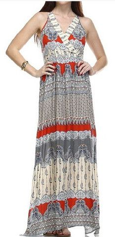 The Linley Print Maxi Dress