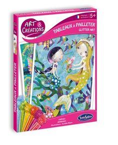 SentoSphere Kreativset Glitzerbilder Meerjungfrauen - Bonuspunkte sammeln, Rechnungskauf, DHL Blitzlieferung! Glitter Art, Kit, Creations, Cover, Books, Glitter, Adhesive, Activities, Glow