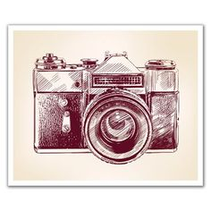 J.P. London Design, Inc. POSLT2263 Point and Click Retro Camera uStrip Lite Removable Wallpaper Decal
