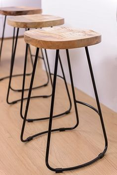 Provide your guests with comfortable seating by offering a seat on the form-fitting shape of the Jessie TractorBar Stool, Black, 65cm from Loft Furniture.