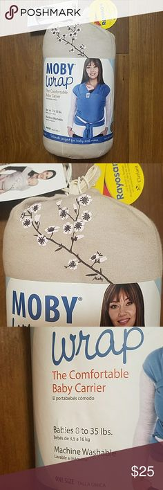 Moby Wrap Baby Carrier Almond Blossom Moby Wrap Baby Carrier Almond Blossom  Brand New with Tags  Color : Almond Blossom Babies: 8-35 lbs   One Size   Comes from a non smoking / no pets home moby wrap baby carrier Accessories