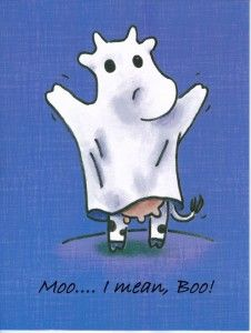 What does a cow say to scare away a ghost? Moo! Square Cow and the ...