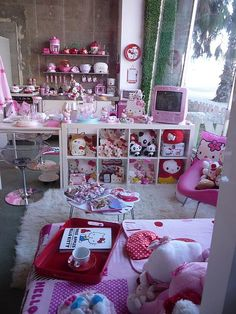 Kawaii Hello Kitty Sanrio Pink Japan Japanese Cute...I want everything in this room, just sayin!!!!