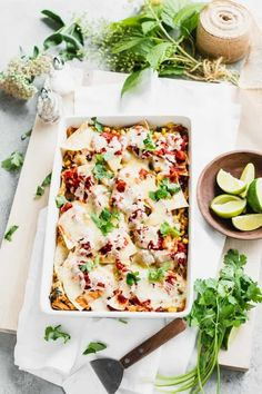 I'm pretty sure you'll love this MexicanCasserole recipe made with baked corn tortillas, shredded cooked chicken, Mexican spices and sauce baked into a cheesy comforting casserole. It is hearty and satisfying Mexican comfort food for the whole family!