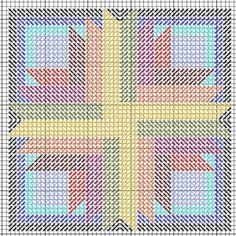 Sunburst Mosaic Ornament Needlepoint Canvas, designed by Janet Perry