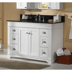 """Bathroom Vanities Charlotte Nc $217.00 pace princeton series 48"""" x 21"""" vanity with drawers"""