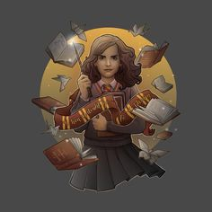 Shop The Magic of the Books harry potter t-shirts designed by saqman as well as other harry potter merchandise at TeePublic. Harry Potter Drawings, Harry Potter Fan Art, Harry Potter Characters, Day Of The Shirt, Desenhos Harry Potter, Harry Potter Merchandise, Hermione, Hogwarts Mystery, Warrior Princess