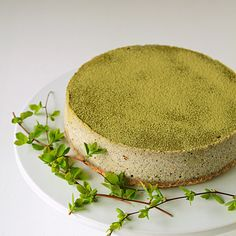 Matcha Black Sesame Cheesecake Recipe Desserts with unsalted butter, hazelnuts, cream cheese, matcha, sesame, vanilla, large eggs