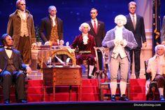 George Washington, hall of presidents, magic kingdom, walt disney world