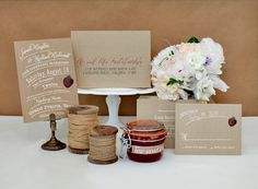 rustic--like this use of photo clip and cake plate