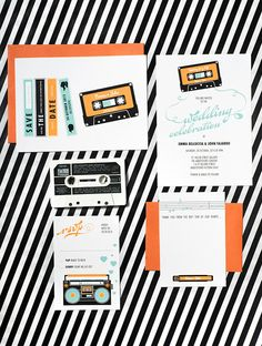 Hey, I found this really awesome Etsy listing at https://www.etsy.com/listing/126180053/mix-tape-music-wedding-invitation-suite
