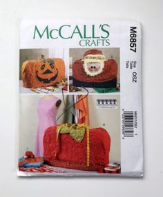 McCall's Crafts Pattern M6857 Sewing Machine Covers Santa Pumpkin Strawberry New #McCallsCrafts