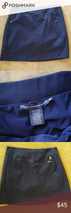 New Navy Ralph Lauren Golf Skort Brand new! Cut tag off but never wore, in new condition. Comfortable pull on style with gold accents. Ralph Lauren Shorts Skorts