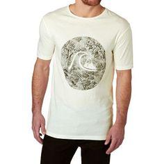 Quiksilver T-shirts - Quiksilver Garment Dyed Sunset Tunels T-shirt - Snow  White
