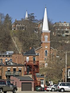 Steps from Main St. to Prospect St. in Galena, IL   I visited family in Galena when I was a child.  The thing I remember most was walking up & down those steps.  I sooo want to visit there again with my husband