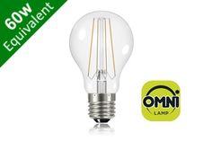 Filament Globe (GLS) E27 6.2W (60W) Clear LED