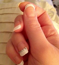 french manicure with gems fashion pinterest french