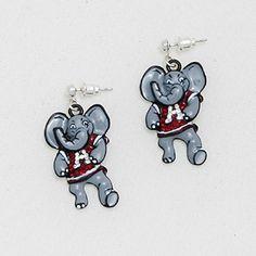 Alabama Crimson Tide Elephant Big Al Charm 1//2 Natural Finish Sterling Silver Logo