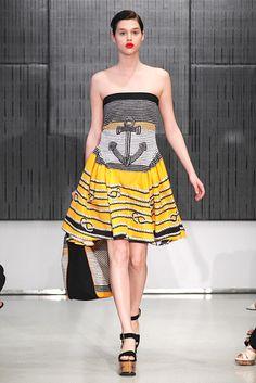 Saint Laurent Resort 2012 Fashion Show - Anais Pouliot