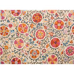 Brunschwig And Fils - Dzhambul Cotton And Linen Print - Raspberry Orange