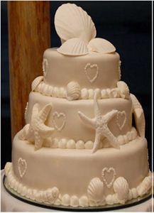Heart, Seashell & Beach Cake