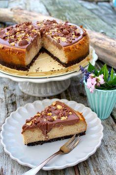 Peanutbutter-Cheesecake-mit-Oreokeks-Boden