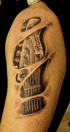 https://flic.kr/p/98GCBU | guitar tattoo