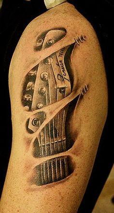 https://flic.kr/p/98GCBU | guitar tattoo