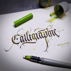 by the hand of ___ 🌟 - Featured by 🔱 - Inspiring Calligraphy & Lettering 👁 -… Calligraphy Fonts Alphabet, Brush Pen Calligraphy, How To Write Calligraphy, Beautiful Calligraphy, Script Lettering, Penmanship, Caligraphy, Letras Tattoo, Decorated Envelopes