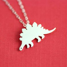 Of course I want this Silly Stegosaurus Necklace by AN Original Jewelry