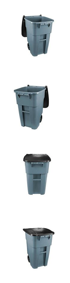 black and decker plastic bins trash cans and wastebaskets 20608 32 gal blue recycling bin