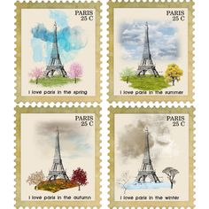 """I LOVE PARIS stamp collection"" by french-gal on Polyvore"