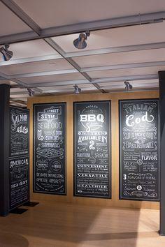 Seafood Chalk Lettering byKelsy Stromski